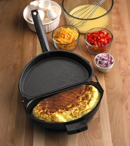 Folding-Omelet-Pan-Egg-Frying-Cooker-Breakfast-Maker-Skillet-Non-Stick-NEW