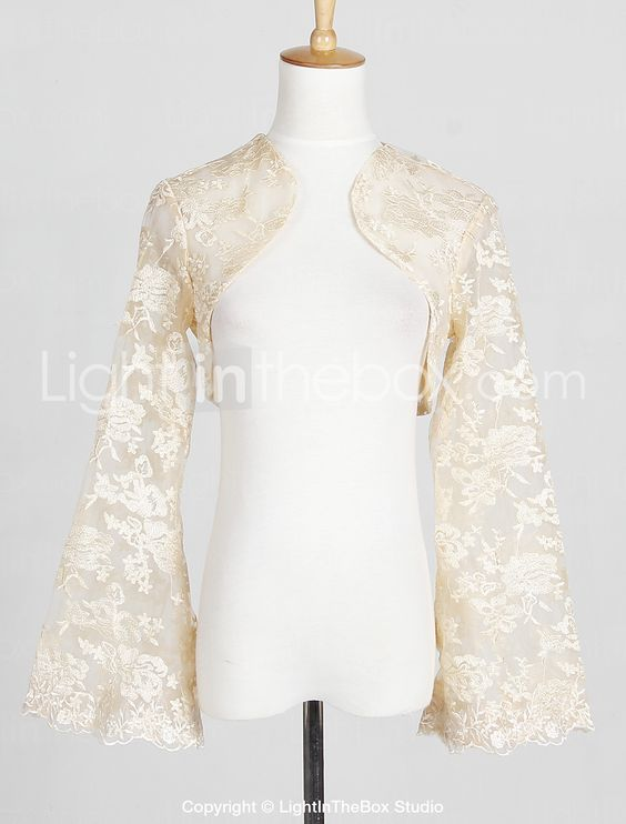 Long Sleeve Lace Evening/Casual Wraps/Jacket (More Colors) - GBP £ 41.75