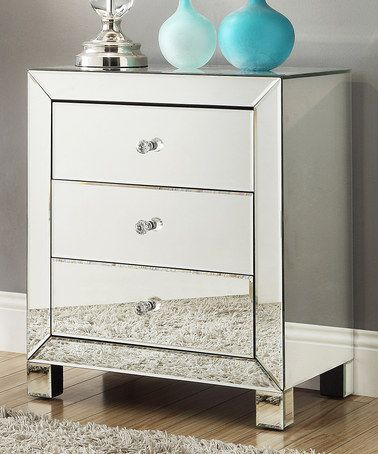 HomeBelle Glendale Mirrored Accent Table