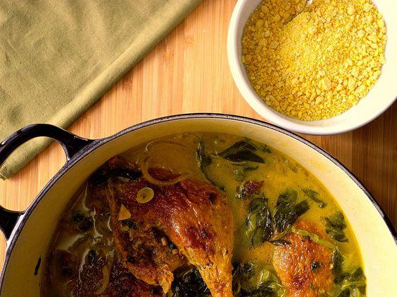 Pato no tucupi com jambu e farinha d'água    Duck on Tucupi and Jambu     #food #lesgourmandsclub #brazilianfood #tasty #homemade #foodporn #comidacaseira #gostoso #comida