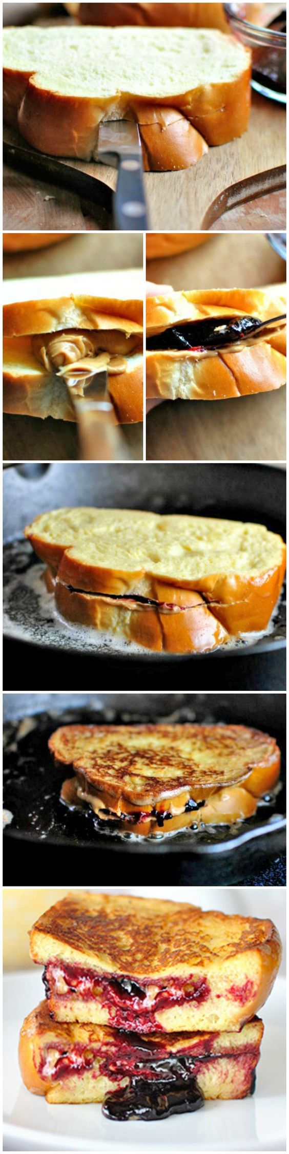 PB & J French Toast, a few of my favorite things at one time.  Maybe I'll make this on my birthday :)