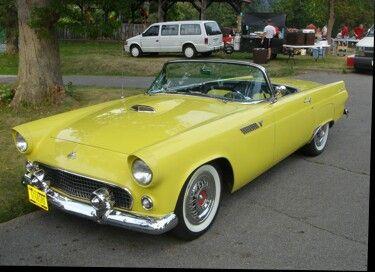 1955 Yellow Thunderbird