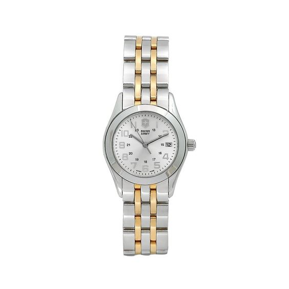 2 tone Swiss army watch...mine is similar but not nearly that expensive!