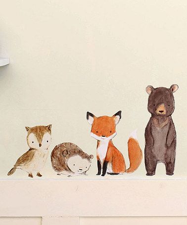 Theodore Look what I found on #zulily! Woodland Friends Decal by trafalgar's square #zulilyfinds
