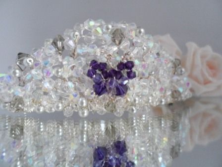 Crystal Butterfly Bridal Wedding Tiara