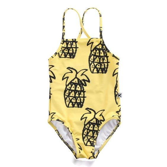 Bamboo Clothing Noosa: Minti Pineapple Yardage Swimsuit