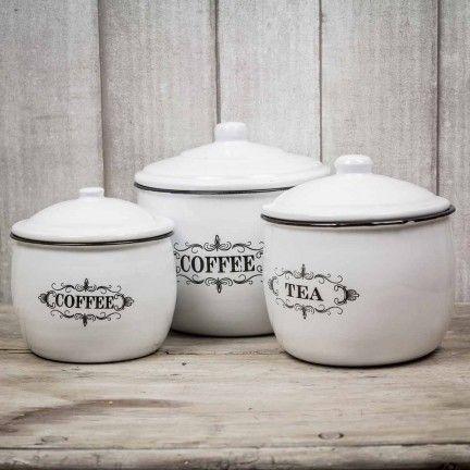 Botes de metal - Coffee and Tea