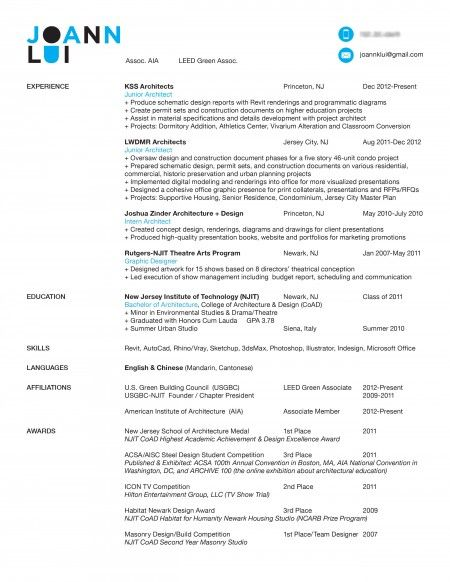Architectu0027s resumé - cv + exampls Graphics Pinterest Resume - landscape architect resume