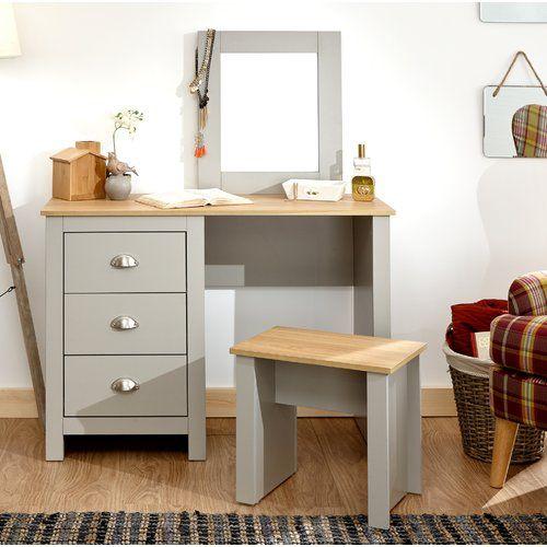 Zipcode Design Loretta Dressing Table Set With Mirror Wayfair Co Uk Dressing Table Set Top Quality Bedroom Furniture Furniture