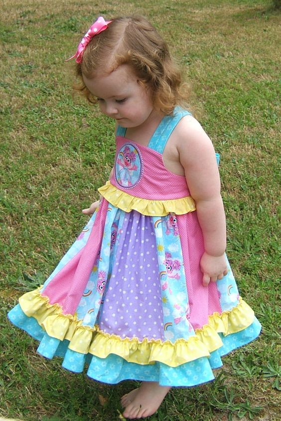 Abby Cadabby Girls Appliqued Ruffle Bow by SugarbabyCoutureShop, $68.00