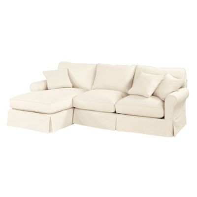 3 Piece Sectional Sofa With Chaise Slipcover Baldwin 2 Piece Sectional With Left Arm Chaise Slipcover