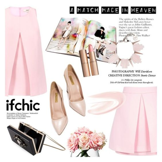 """Matching the pink by Ifchic"" by ifchic ❤ liked on Polyvore featuring Cameo, C/MEO COLLECTIVE, Noir, John Galliano, LSA International, Dee Keller, Charlotte Tilbury and Gemma Redux"