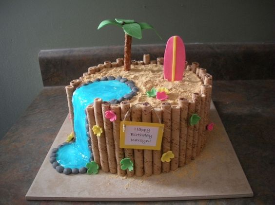 Luau cake idea for Avery's birthday.