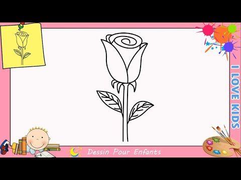 Comment Dessiner Une Rose Facilement Etape Par Etape Pour Enfants 2 Youtube Dessin Rose Comment Dessiner Une Rose Dessin