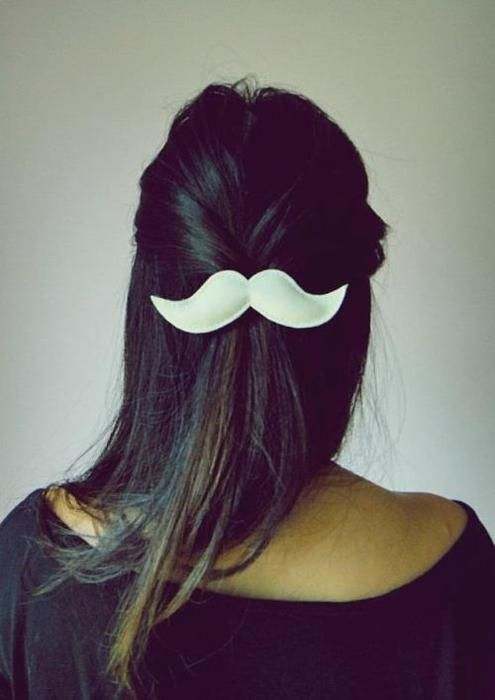 MUST HAVE!: Hair Pin, Mustache Bow, Moustache Hair, Mustache Hairclip, Mustache Hairpin, Hairstyle, Hair Style, Mustache Clip