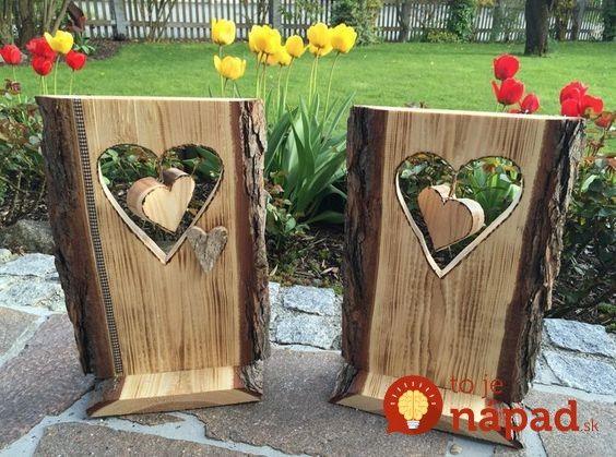 Nestoji To Ani Cent 31 Genialnych Napadov Ako Si Vylepsit Zahradu Pomocou Odpadoveho Dreva A Konarov Wood Crafts Rustic Crafts Wood Creations