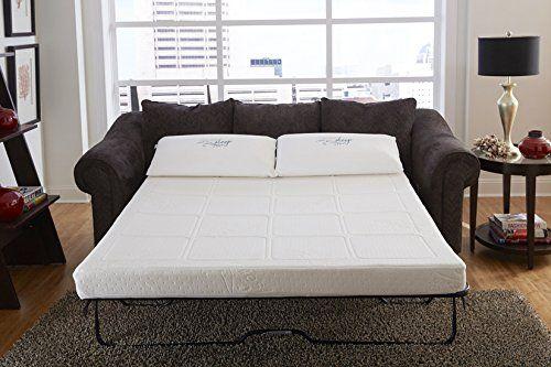 Couturesleep Gel Memory Foam Replacment Sofa Sleeper Mattress Queen Only Toppers Pinterest Full And