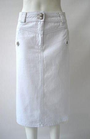 Office White Denim Skirt   Skirts   Pinterest   White denim skirt ...