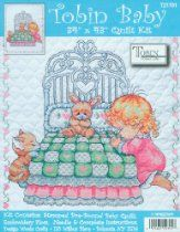 Tobin Baby 34 Inch x43 Inch Stamped Cross Stitch Quilt - Girl Bedtime Prayer