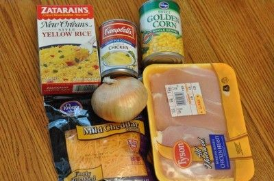 7-8 hours on low in the crock pot for Slow cooker cheesy chicken and rice. Trying this tomorrow!
