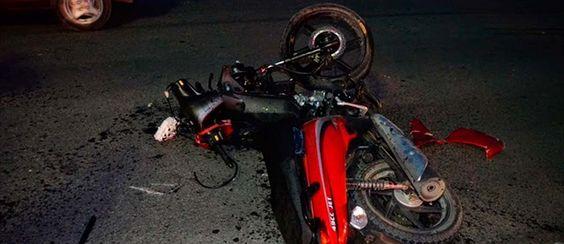 Motociclista bêbado sofre acidente em Carnaíba
