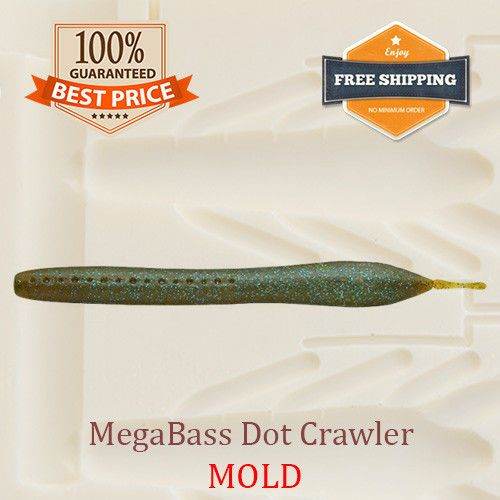 Megabass Dot Crawler Worm Bait Mold Fishing Soft Plastic Lure 100-175 mm