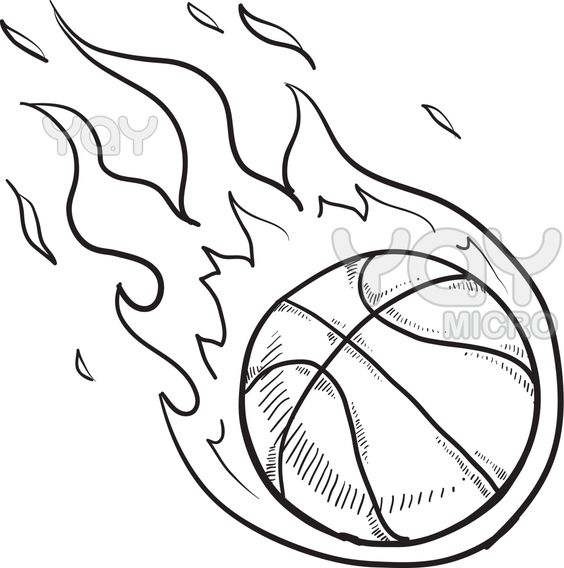 Basketball Coloring Page Pages Education Pinterest Basketball Color Page