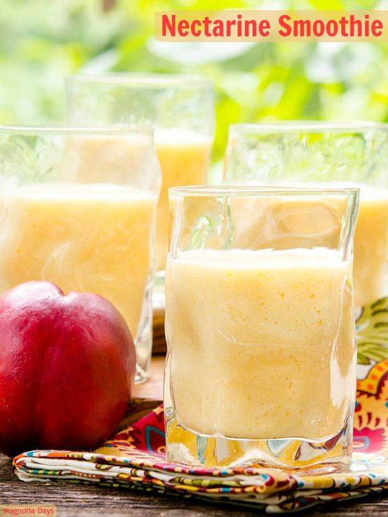 Nectarine-Yogurt Smoothie Recipe — Dishmaps