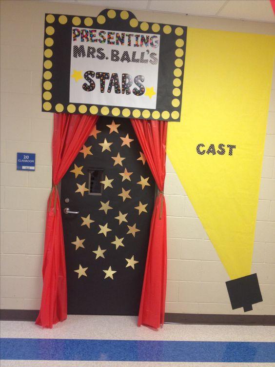 Hollywood classroom door