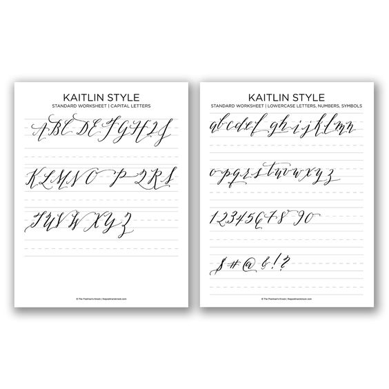 Free basic calligraphy worksheet kaitlin style catalog