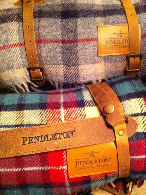 Pendleton Blankets, so many uses and great decor accent.  Love a Pendleton Blanket draped over a straw bale sofa!