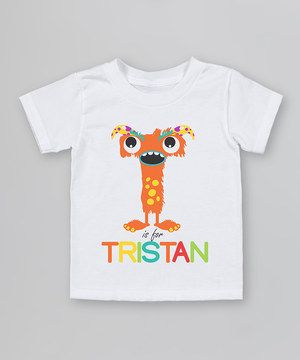 A silly monster brings laughter and delight on this adorable tee, personalized just right for little sweeties. Using water-based ink and organic cotton, it's soft on the earth and softer on darling skin.
