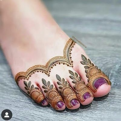 Feet beautiful mehndi design