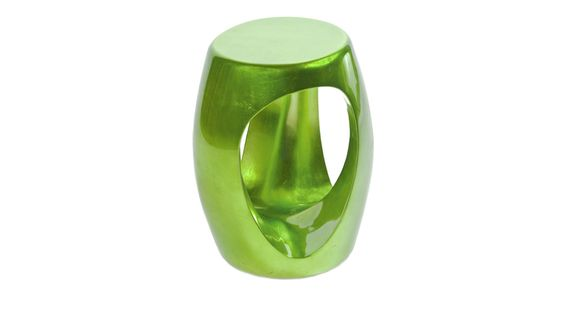 CARVED #stool. Green coloured, but with #gold inside.