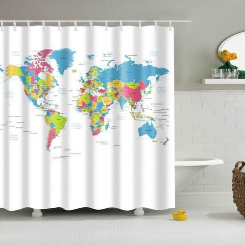 Map It Out Shower Curtain Fabric Shower Curtains Curtains