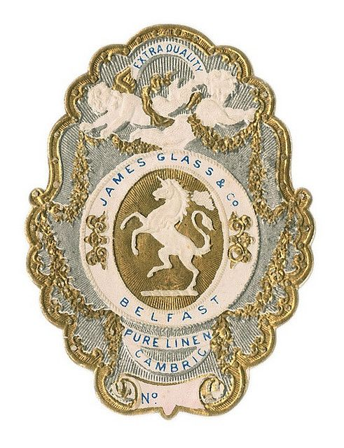 antique french perfume label (paris)