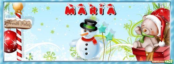 María - Portadas con nombres para Facebook