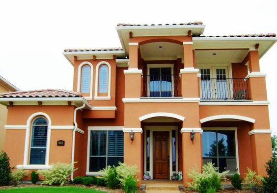 Home Design and Decor , Exterior Home Paint Colors : Terracotta Exterior Home Color