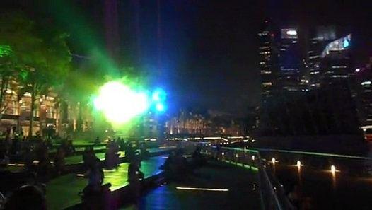 wonderful water fountain show in marina bay sands singapore full