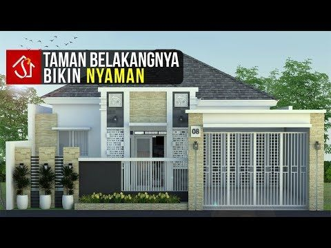 rumah minimalis 2 lantai dengan taman belakang - denah rumah