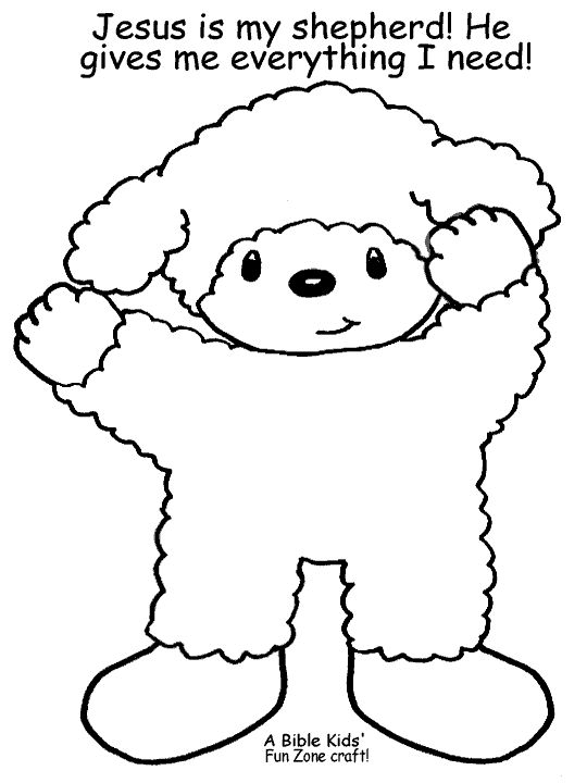 Preschool Church Coloring Pages Sheep Sheep crafts and Psalm 23 on Pinterest