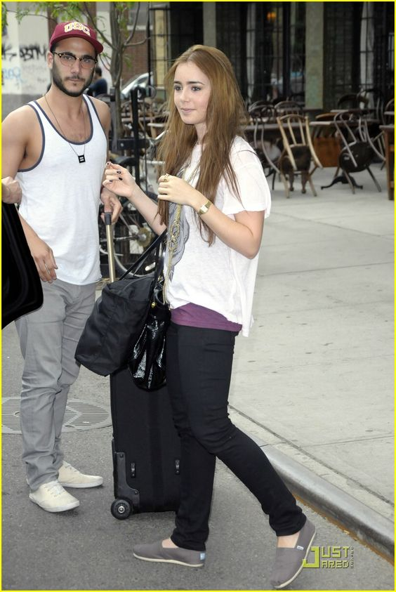 Alex & Chloe for HRC necklace spotted in Hollywood, CA. on former HRC Consumer Marketing Intern, Mark (with actress Lily Collins) #HRC #humanrightscampaign #LGBT #equality #gayrights #AlexChloe #necklace  shop.hrc.org
