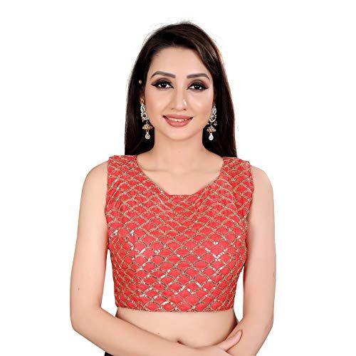 Indian Blouse Clothing Store Spangel Fashion Womens Kalamkari Work Round Neck Sarees Blouses