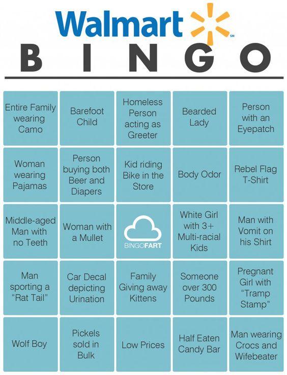 Walmart bingo: Giggle, Bingo Card, At Walmart, So True, Wal Mart, Funny Stuff, Walmart Bingo, People Of Walmart
