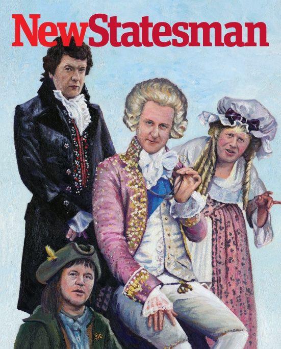 David Cameron as the Prince Regent, George Osborne as Blackadder, Nick Clegg as Baldrick and Boris Johnson as Mrs Miggins