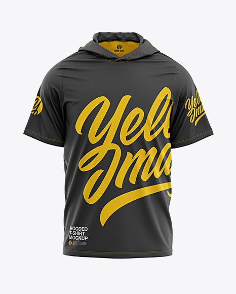 Download Men S Hooded T Shirt Mockup Front View In Apparel Mockups On Yellow Images Object Mockups Clothing Mockup Shirt Mockup Tshirt Mockup