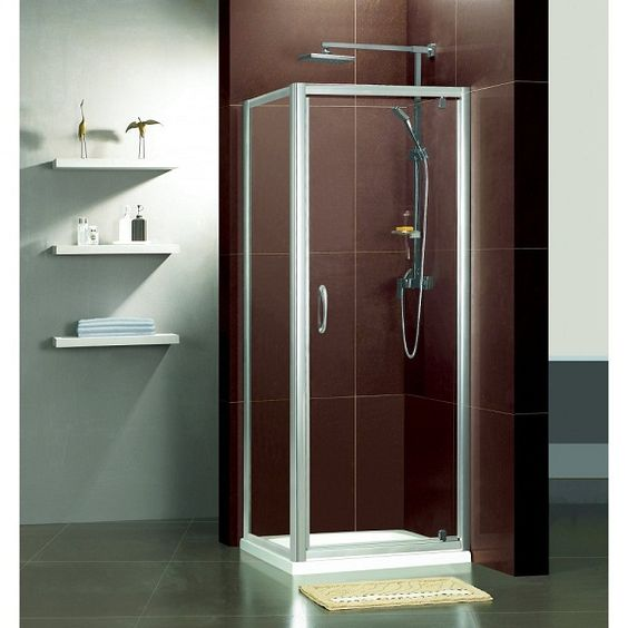 One Piece Corner Shower Unit Could Have Tiled Walls With Shower Pan Bathr