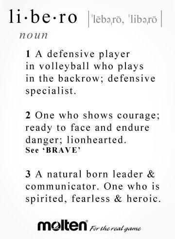 Repin for your favorite libero! #molten #volleyball