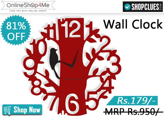 Blacksmith Tree Wall Clock with two color options Buy Now Price: Rs. 179