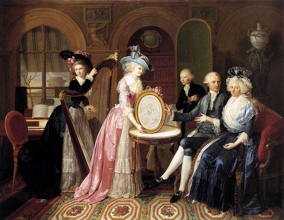 Portrait de la famille Villers, 1790 Jean Bernard Duvivier: